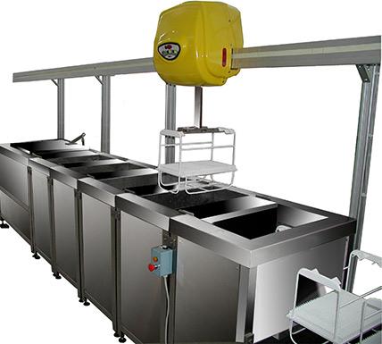 Impianti Ultrasuoni Automatici con Trasportatori a Robot